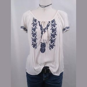 Embroidered Tunic Top Mossimo